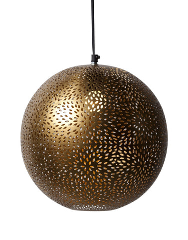 Gold Round Hanging Lamp - Vriksh of Life