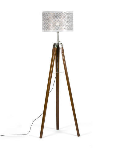 Walnut Tripod Floor Lamp - Vriksh of Life
