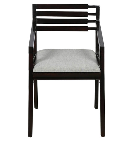 Arm Dining Chair in Provincial Teak Finish - Vriksh of Life
