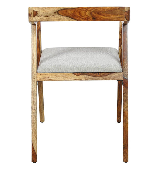 Wooden Arm Dining Chair Oak finish - Vriksh of Life