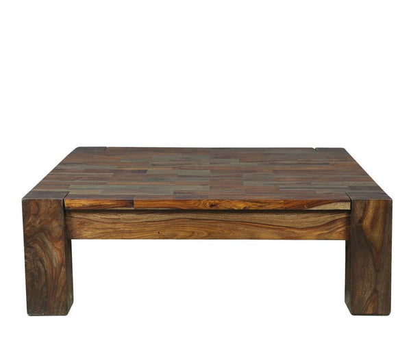 Sheesham Square Multi Tone Coffee Table - Vriksh of Life