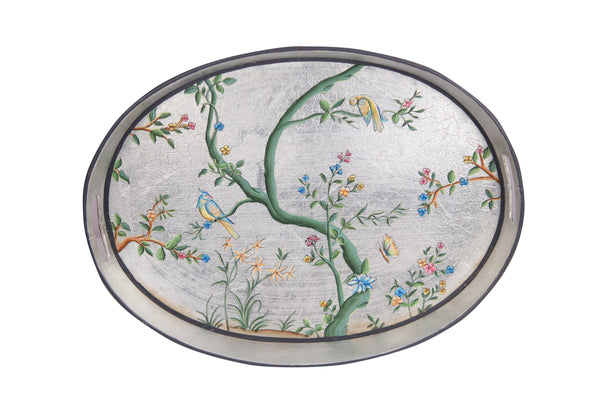 Hand Painted Oval Tray Items Set of 3 - Vriksh of Life