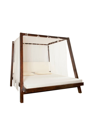Sheesham Wood Azzuro Poster Bed - Vriksh of Life