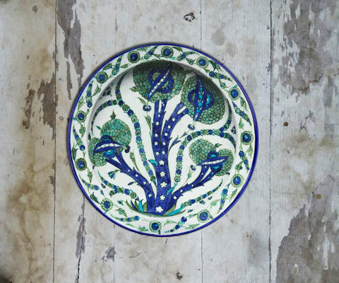 Handpainted Turkish Wall Plate - 085 - Vriksh of Life