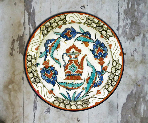 Handpainted Turkish Wall Plate - 086 - Vriksh of Life