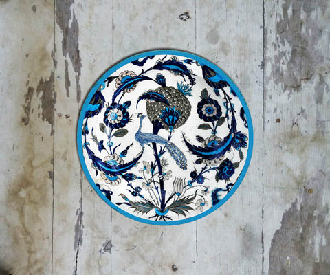 Handpainted Turkish Wall Plate - 088 - Vriksh of Life