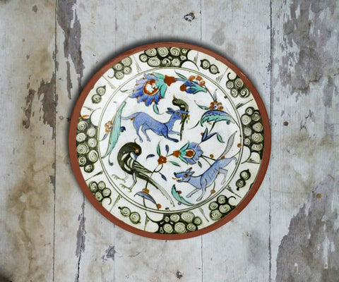 Handpainted Turkish Wall Plate - 090 - Vriksh of Life