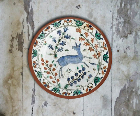 Handpainted Turkish Wall Plate - 091 - Vriksh of Life