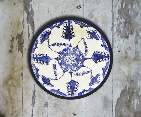Handpainted Turkish Wall Plate - 092 - Vriksh of Life