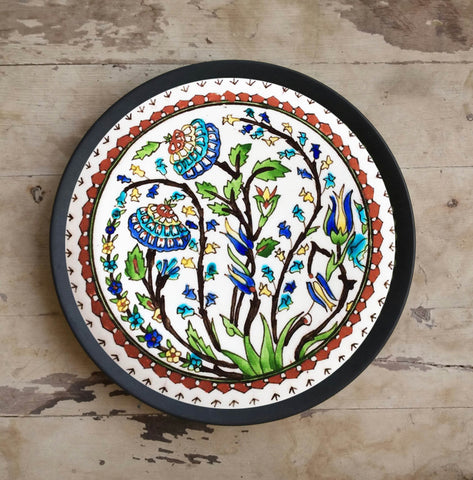 Hand Painted Wall Plate Turkish-75 - Vriksh of Life