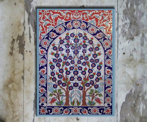 Hand-painted Set of 6 'TURKISH MURAL-001' - Vriksh of Life