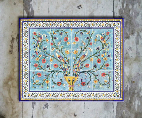 Hand-painted Set of 6 'TURKISH MURAL-004' - Vriksh of Life