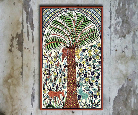 Hand-painted Set of 15 'TURKISH MURAL-006' - Vriksh of Life