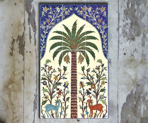Hand-painted Set of 15 'TURKISH MURAL-008' - Vriksh of Life
