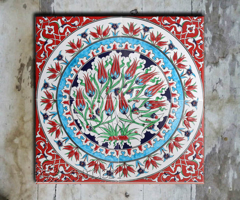 Hand-painted Set of 9 'TURKISH MURAL-014' - Vriksh of Life