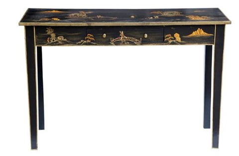 Hand Painted Chinoiserie Console - Vriksh of Life