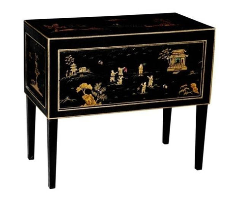 Hand Painted Chinoiserie Chest of Drawers - Vriksh of Life