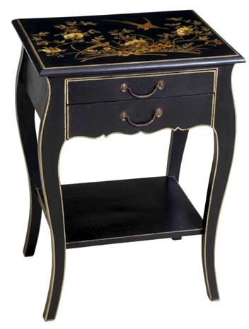 Hand Painted Chinoiserie Side Table - Vriksh of Life