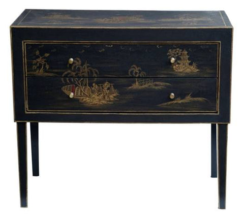 Hand Painted Chinoiserie Cabinet - Vriksh of Life
