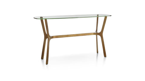 Olk Glass Console Table with Metal Base - Vriksh of Life