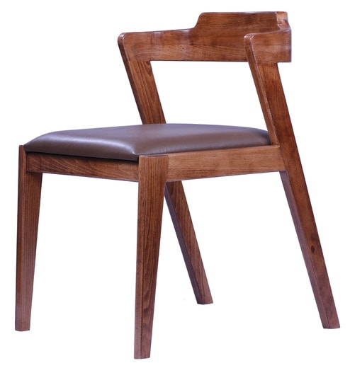 Catedra Dining Chair in Walnut Finish - Vriksh of Life