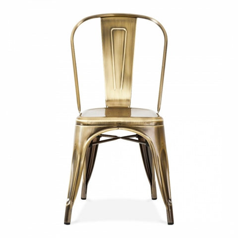 Brass shade Tolix Cafe Chair - Vriksh of Life