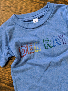 Del Ray Rainbow Kids Tee