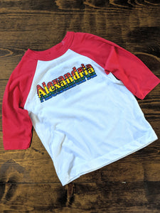 Alexandria Throwback Kids Baseball Tee