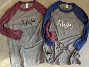 A|VA Adult Baseball Tee