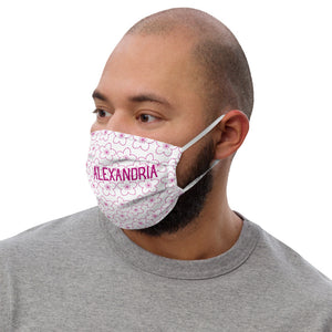 Alexandria Cherry Blossoms Premium face mask