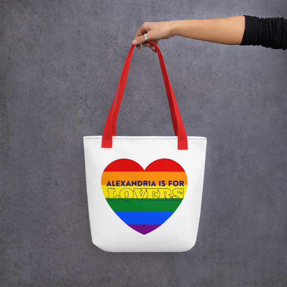 Alexandria is for Lovers PRIDE Heart Tote bag