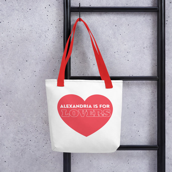 Alexandria is for Lovers Heart Tote bag