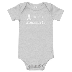 A is for Alexandria onesie