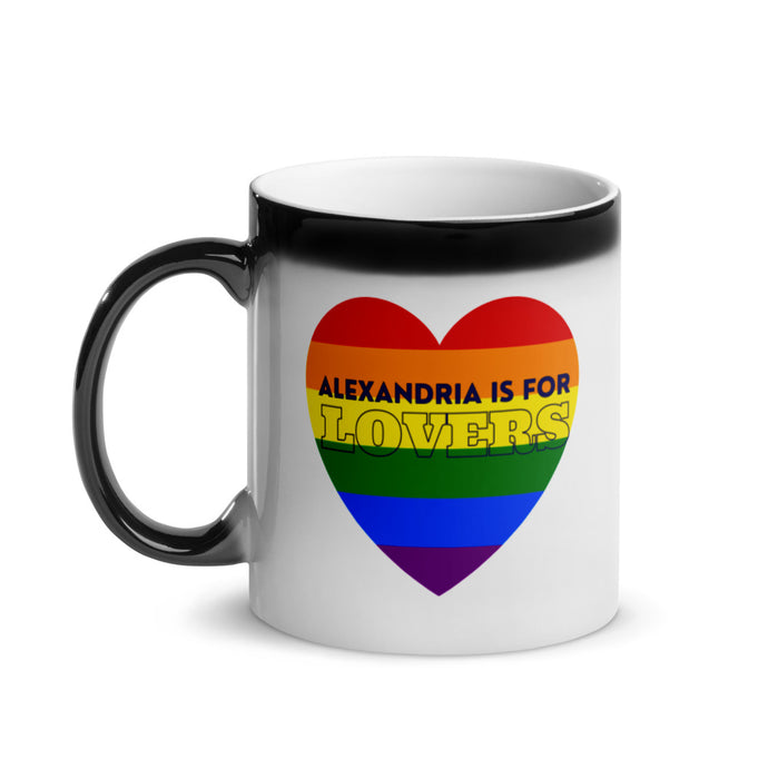 Alexandria is for Lover PRIDE Heart Glossy Magic Mug