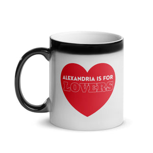 Alexandria is for Lovers Heart Glossy Magic Mug