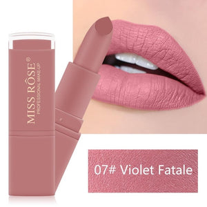 MISS ROSE Waterproof Nude Matte Velvet Glossy Lip Matte