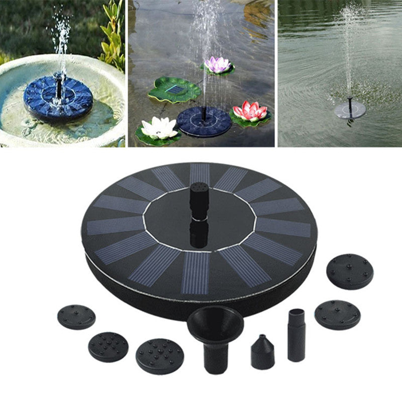 Floating Solar Panel Water Fountain For Garden