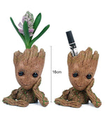 Creative Flowerpot Baby Action Figures Cute Model Toy Pen