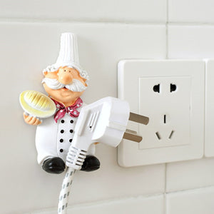 2pcs/lot Cute Self Adhesive Wall Plug Holder