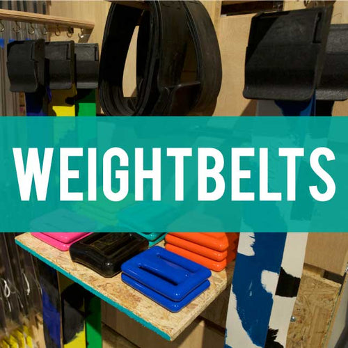Weights and weight belts for diving
