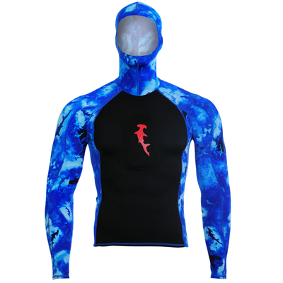 Hammerhead Ambush Hooded Rash Guard Blue