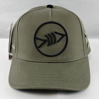 FLF Lucky FL Flag Curve Olive Hat Black Icon