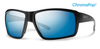 Smith Colson Matte Black Frame w/ Polarized Blue Mirror Lenses