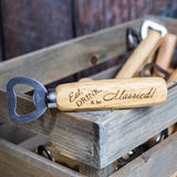 Wedding Favors- Eat, Drink, and Be Married Bottle Openers