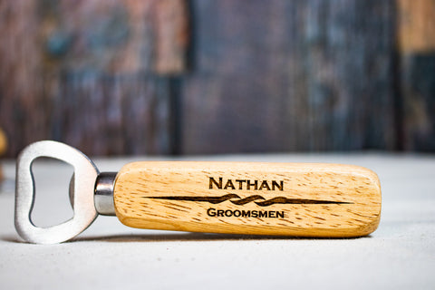 Personalized Groomsmen Bottle Opener