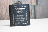 Personalized Flask for Groomsmen