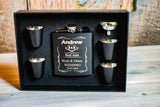 Personalized Flask Set for Groomsmen