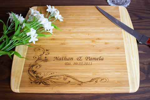 Personalized Wood Cutting Board- Gift for Couple
