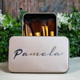 Personalized Makeup Brush Set