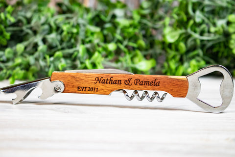 Personalized Corkscrew Wedding Favors